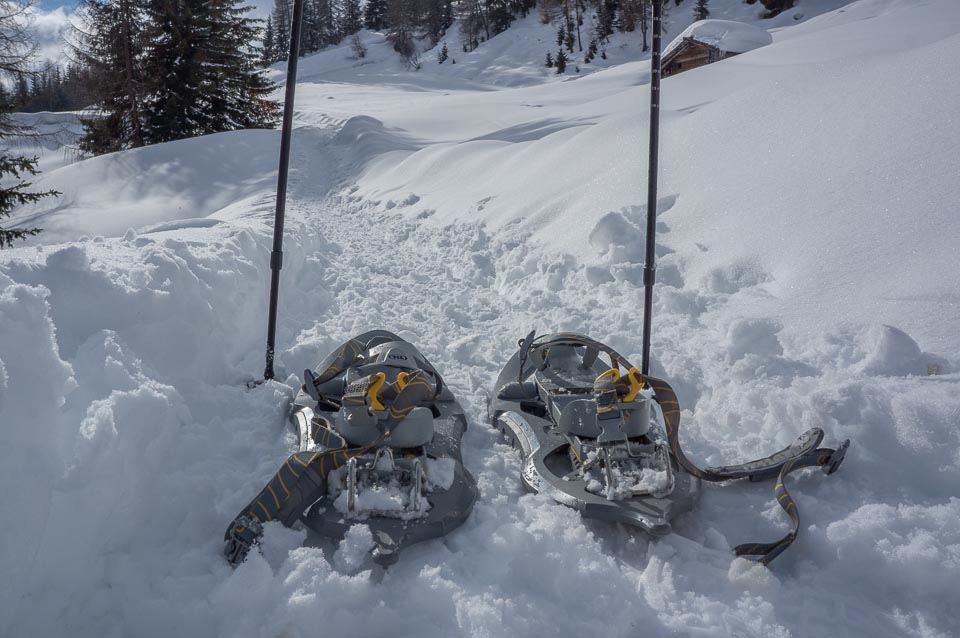 Snowshoeing in Val d'Ultimo